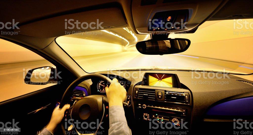 Driving Through the Urban Scene stock photo