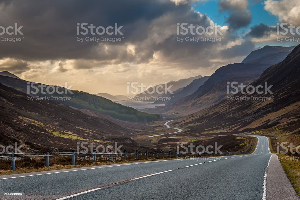 Driving to Torridon stock photo