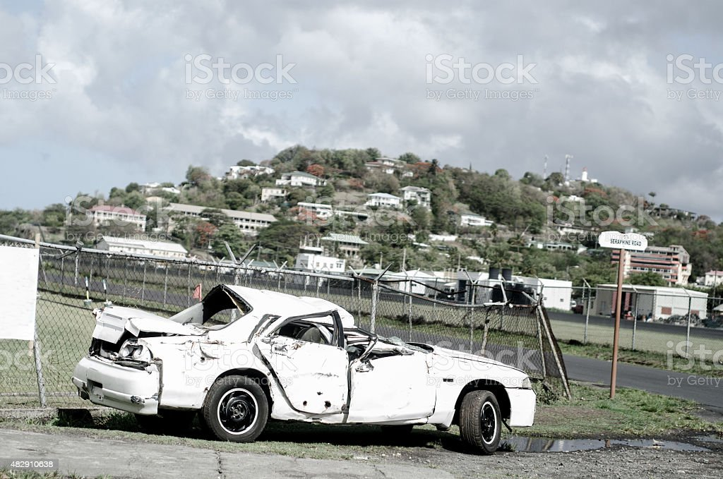 driving under the influences causes car crash stock photo