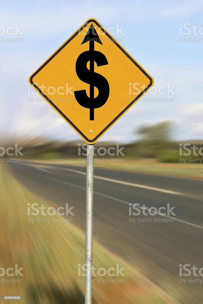 Driving Up Costs stock photo
