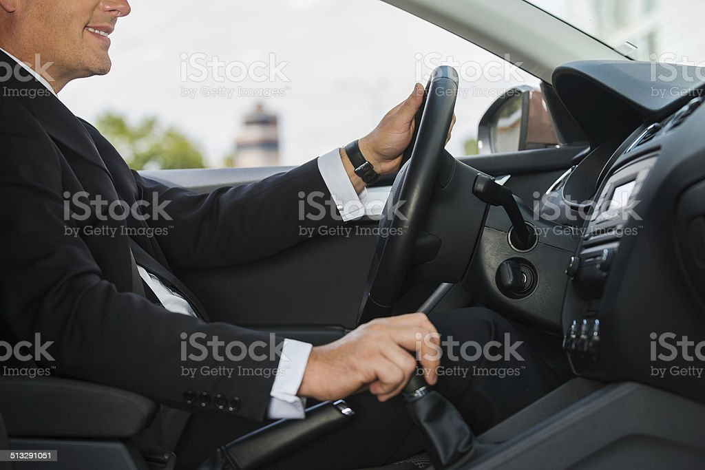 Driving with comfort. stock photo