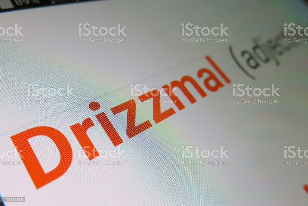 Drizzmal - Dictionary definition stock photo