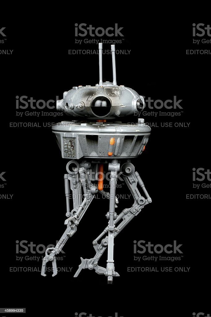 Droid on Black royalty-free stock photo