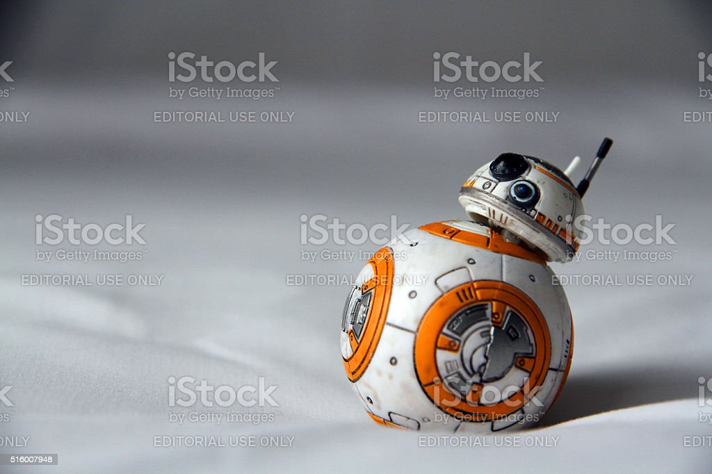 Droid on Sheets stock photo