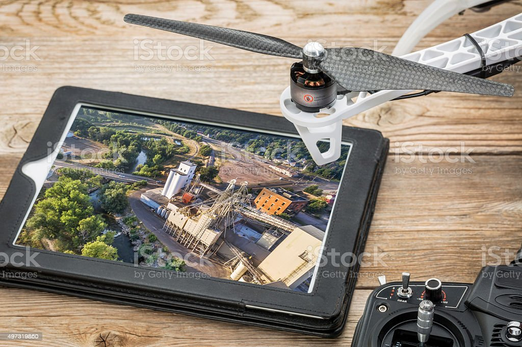 drone aerial photography concept stock photo