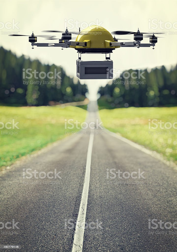 drone at work stock photo