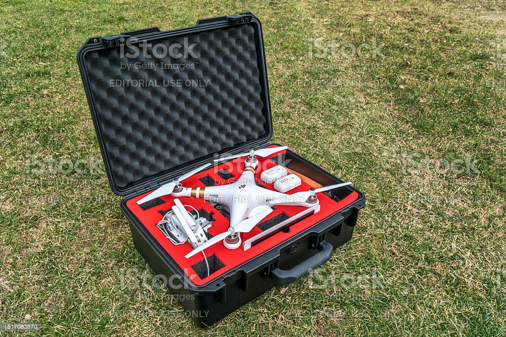 drone in waterpoof case stock photo