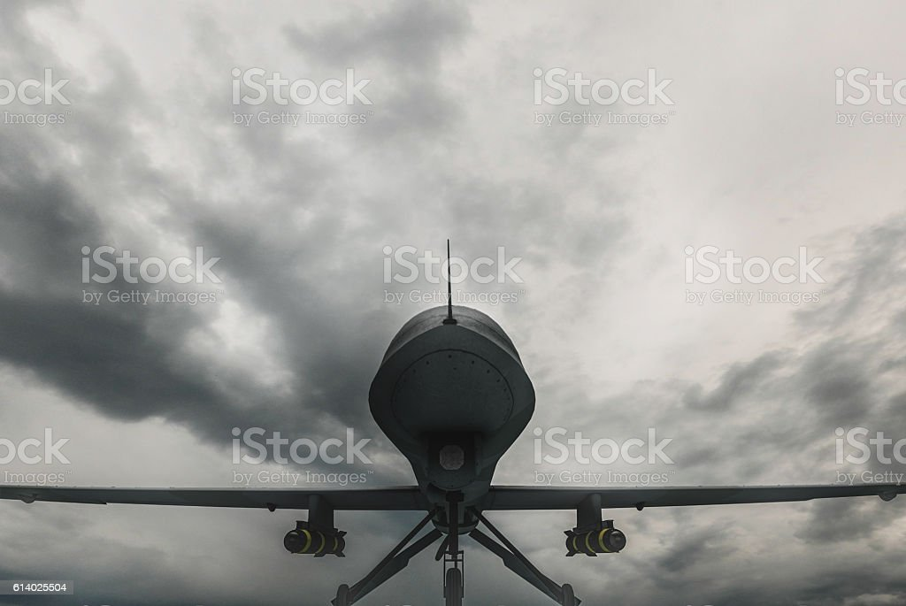 Drone Landed stock photo