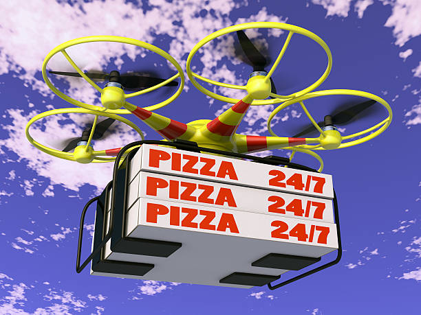 Pizza Drone Sound Meal Pictures Images And Stock Photos