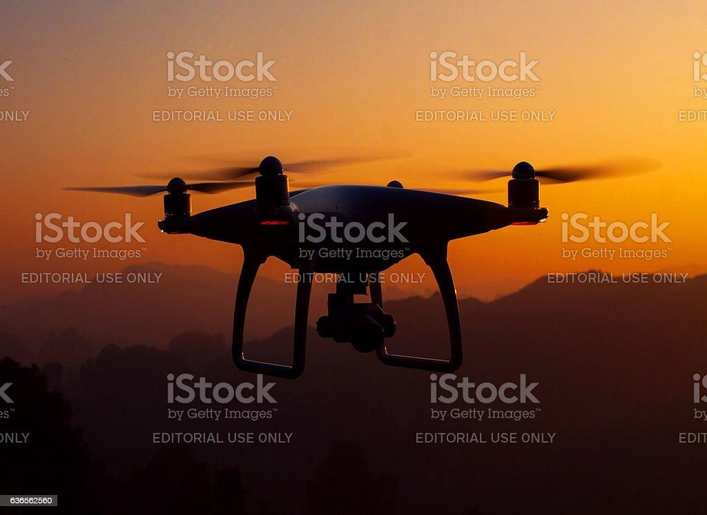 Drone quadcopter Dji Phantom 4 stock photo