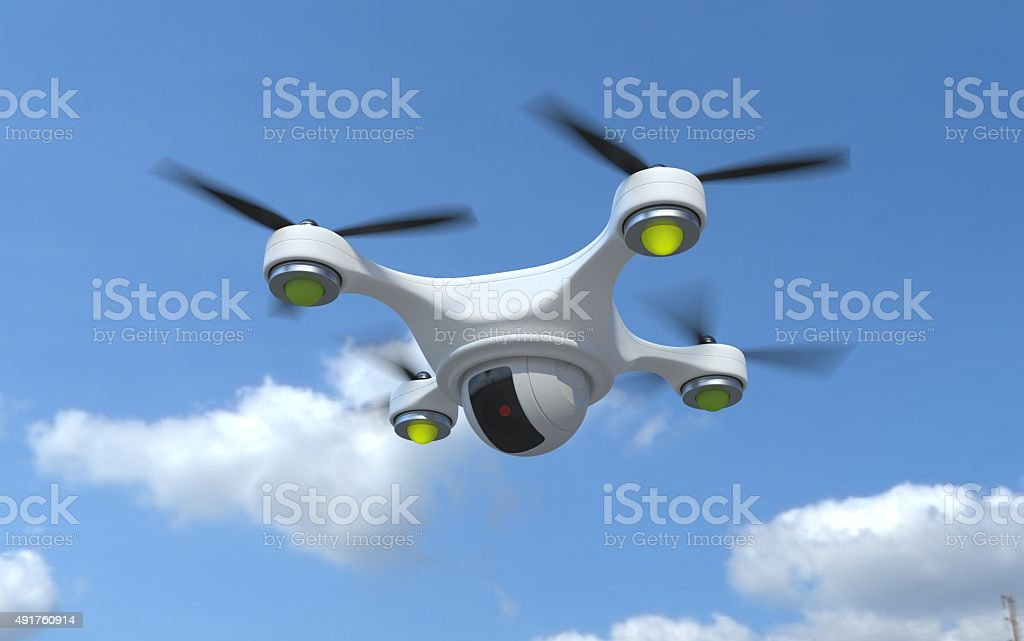 Drone security camera. stock photo
