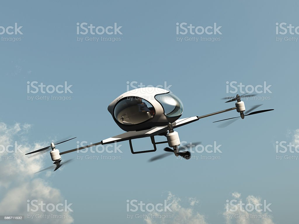 Drone to transport people stock photo