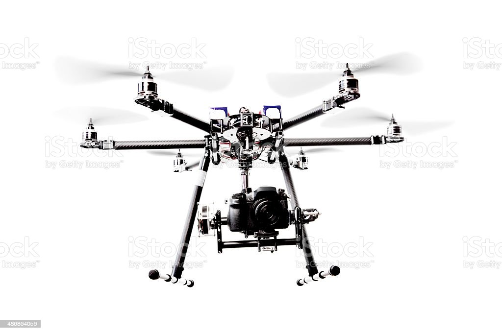 Drone with a camera stock photo