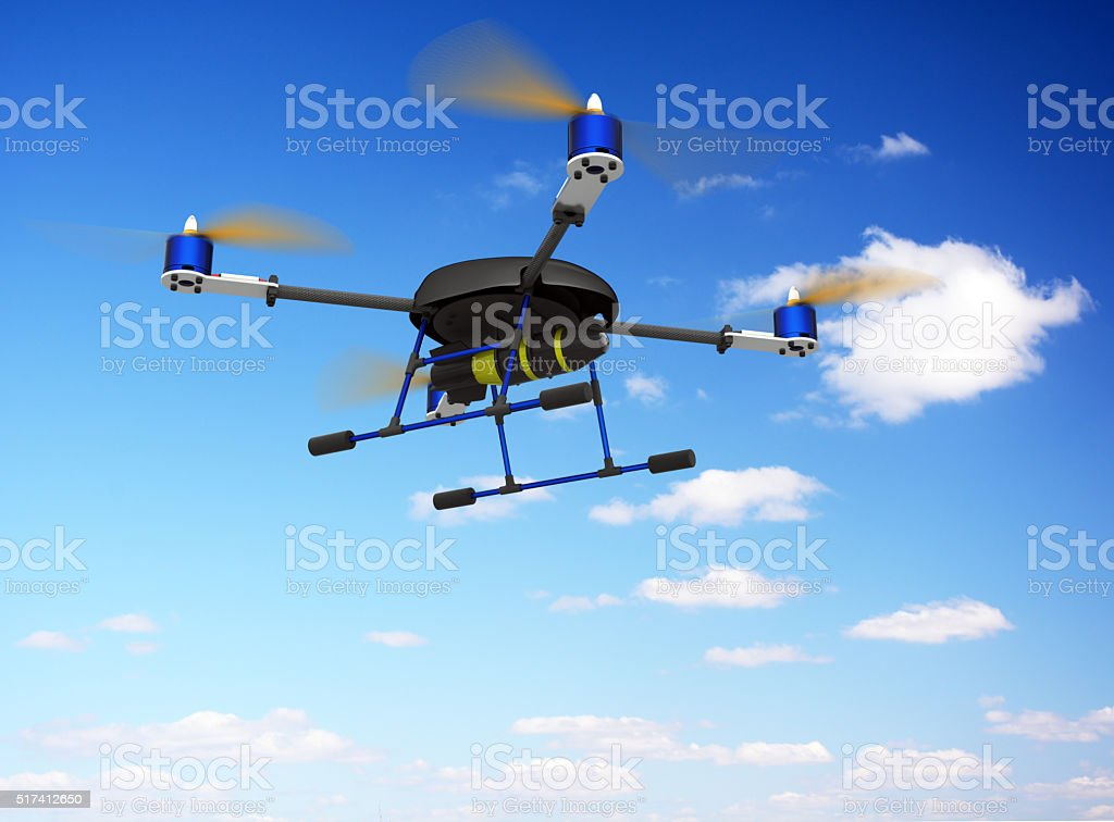 Drone with bomb stock photo