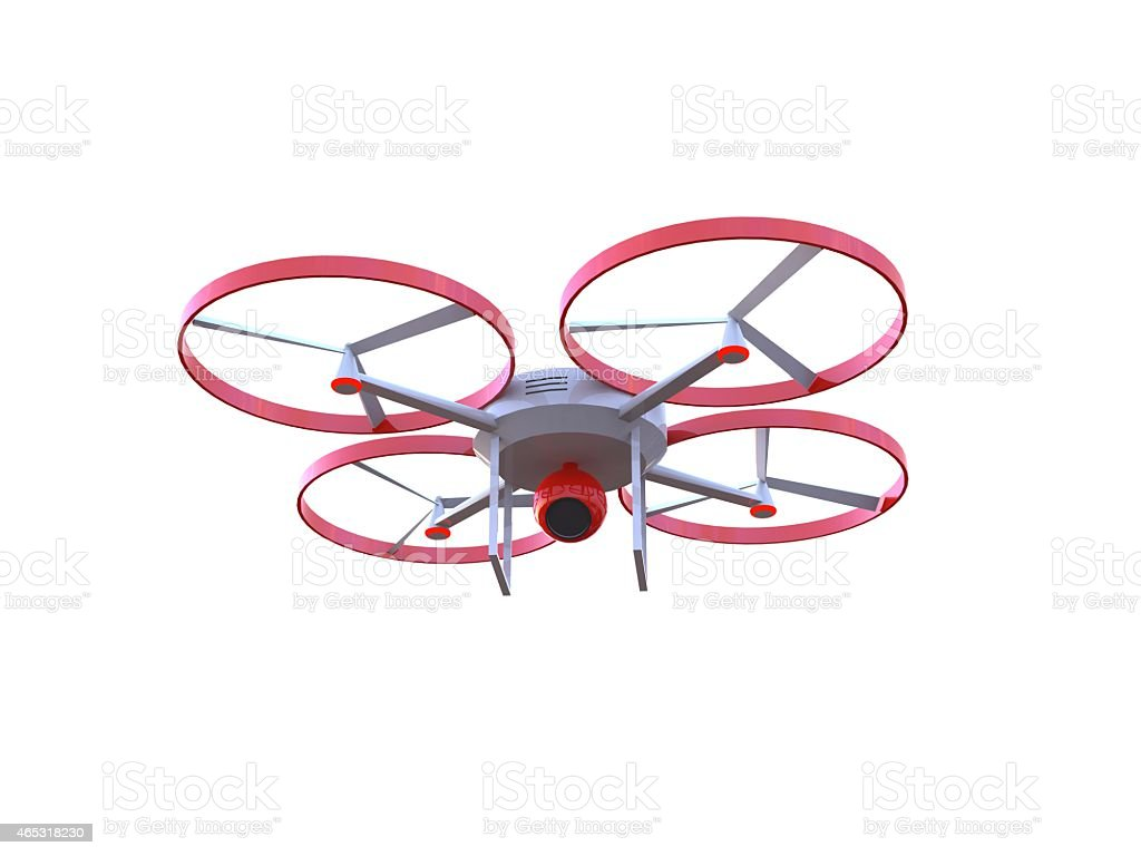 3D drone with camera stock photo