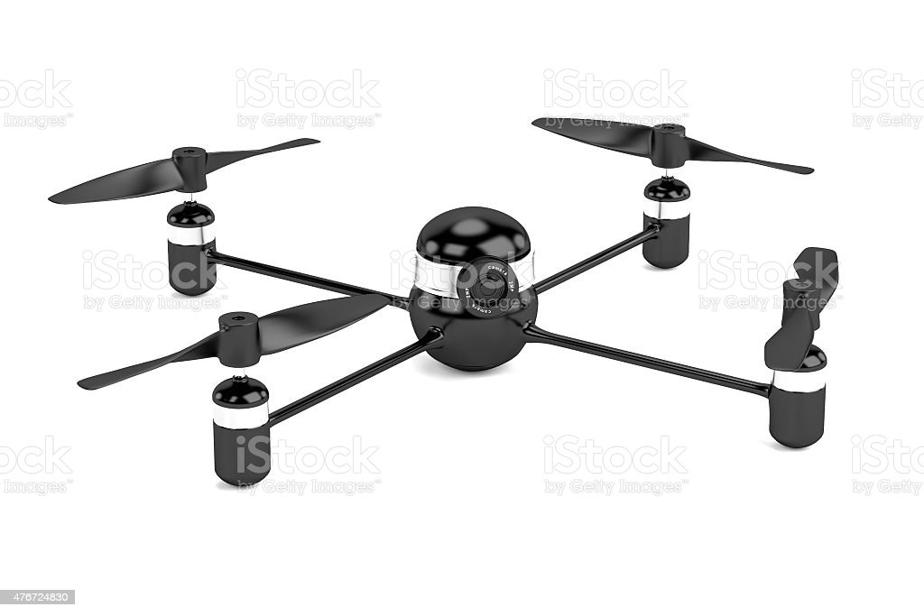 Drone with Camera vector art illustration