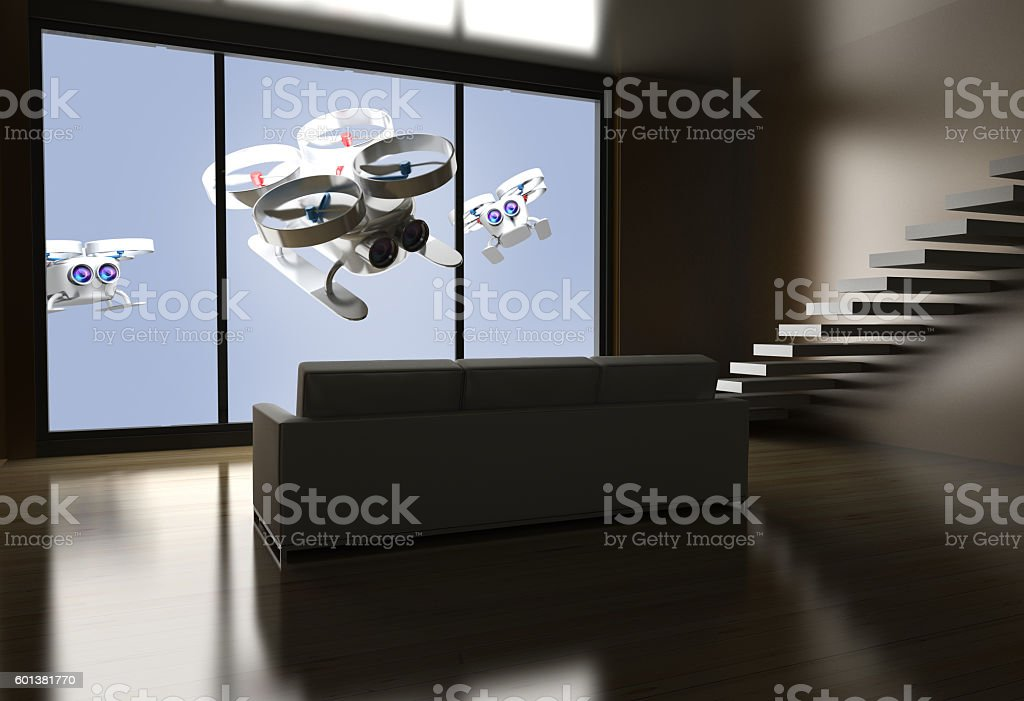 Drones and privacy stock photo