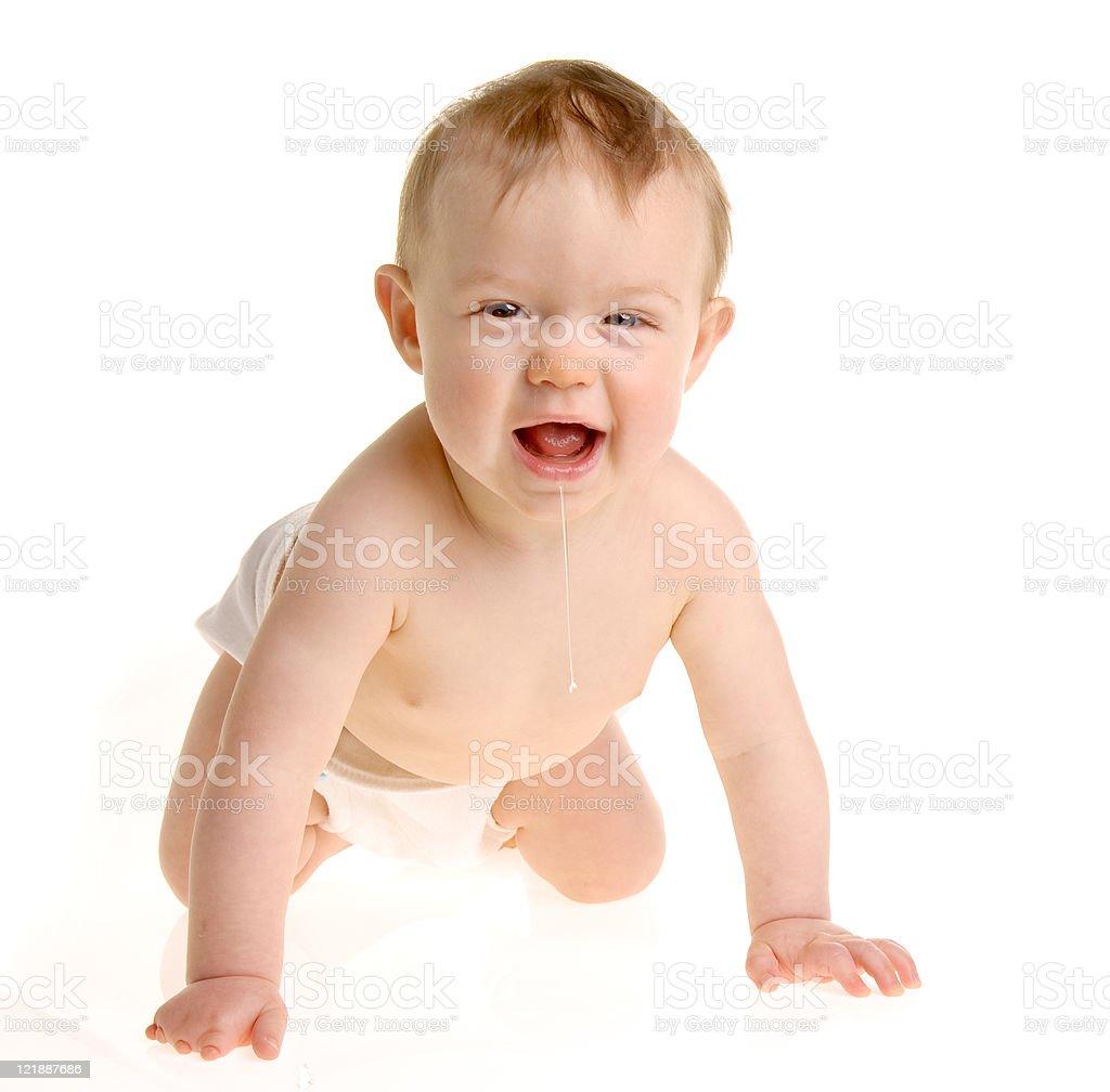 Drool Baby royalty-free stock photo