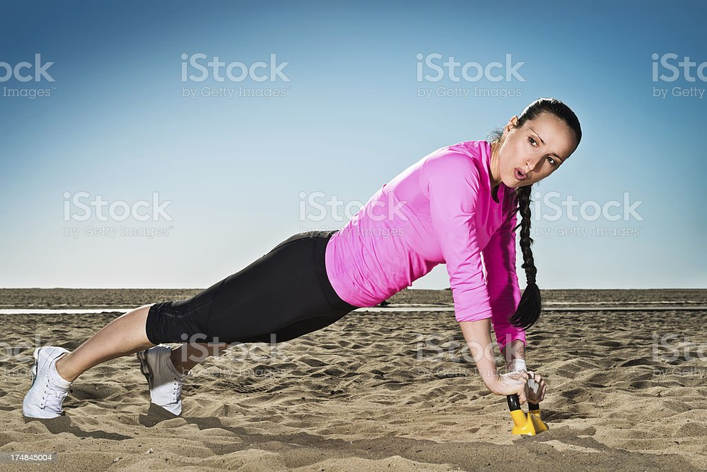Drop and push up royalty-free stock photo
