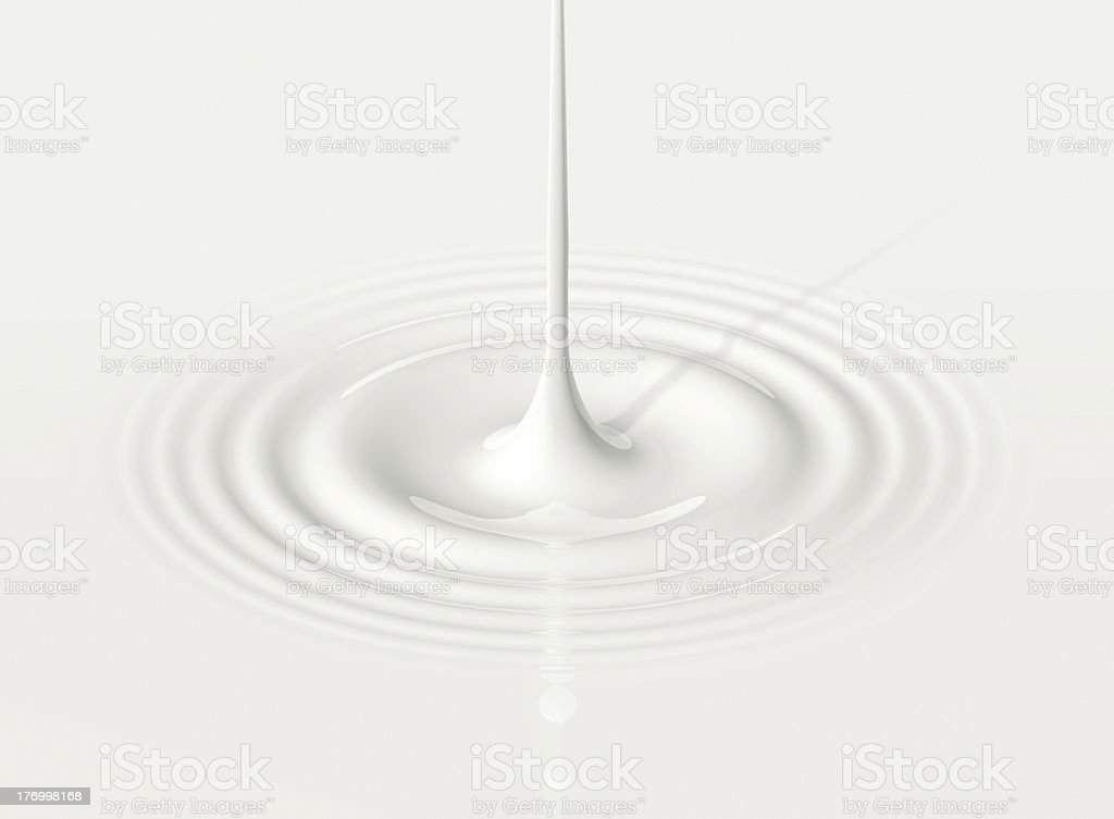drop of milk and ripple stock photo