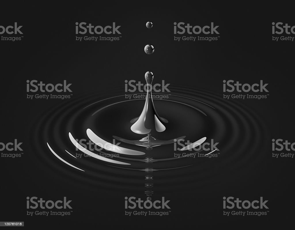 drop of oil and ripple stock photo