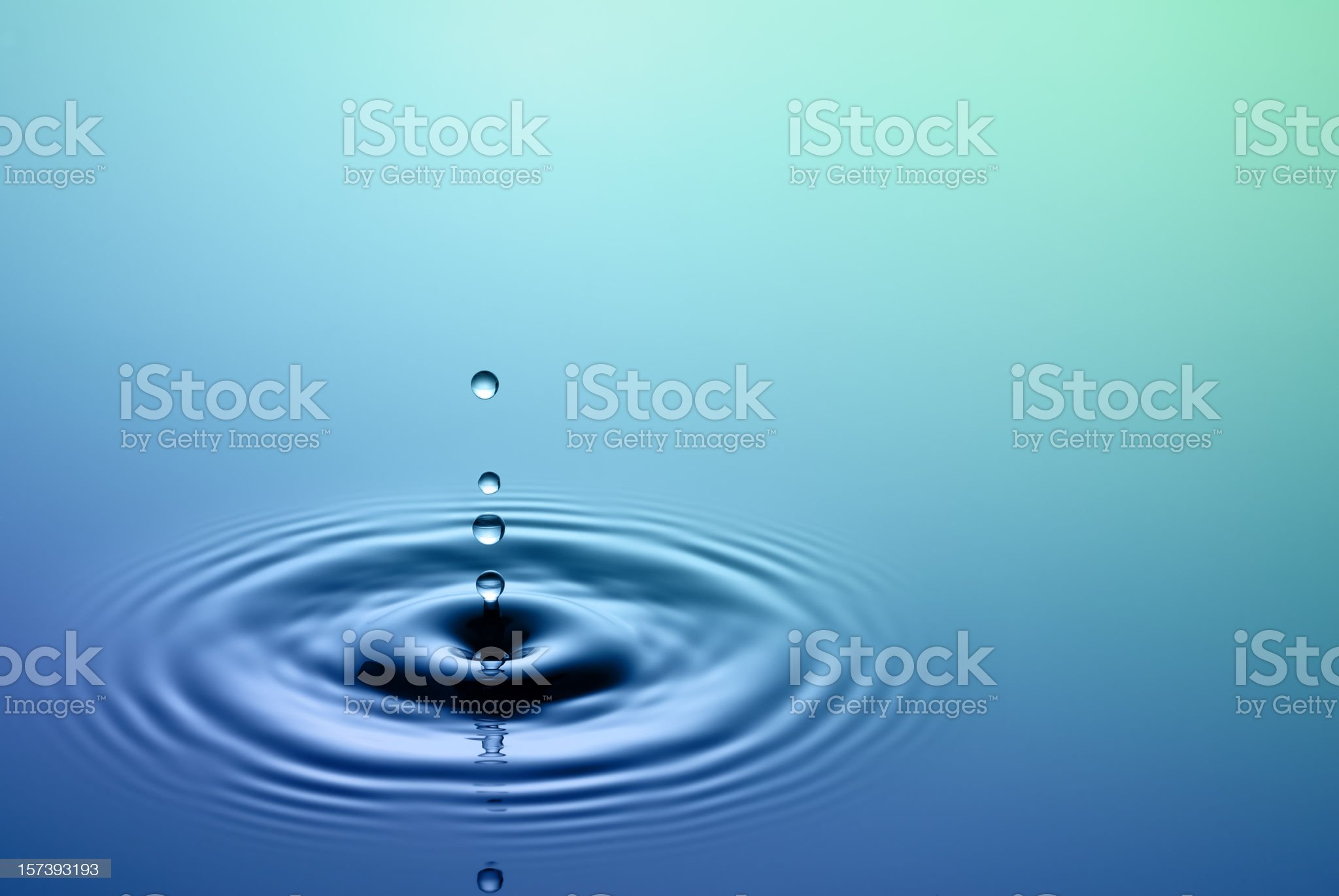 Drop of water royalty-free stock photo