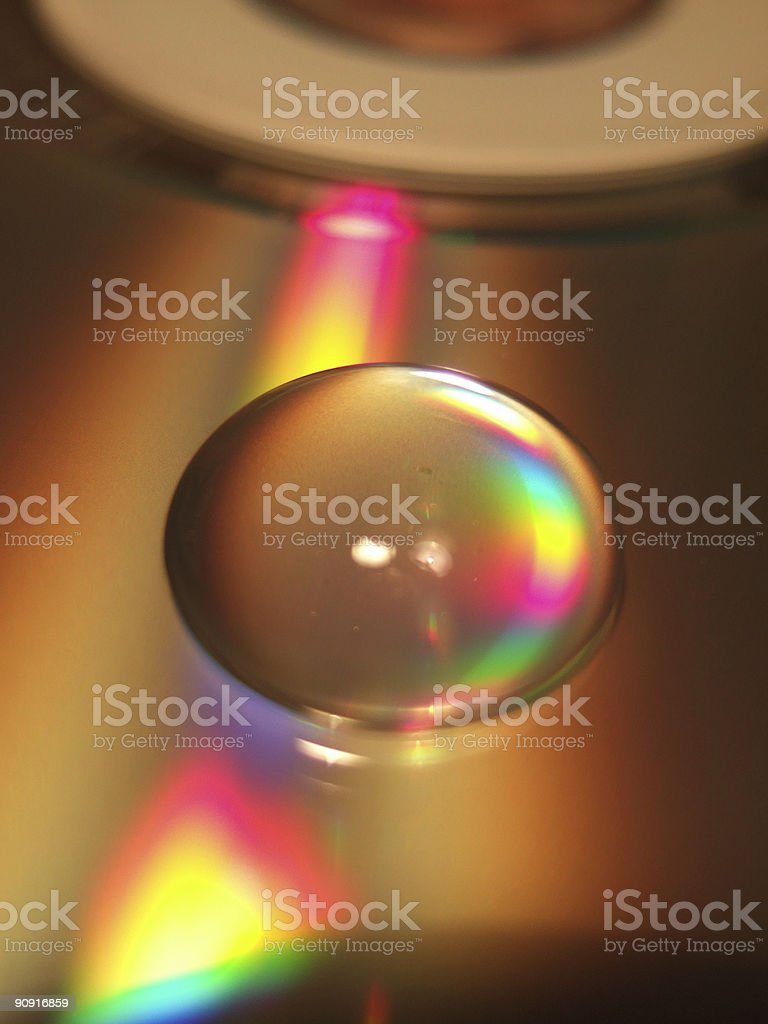 Drop on CD royalty-free stock photo