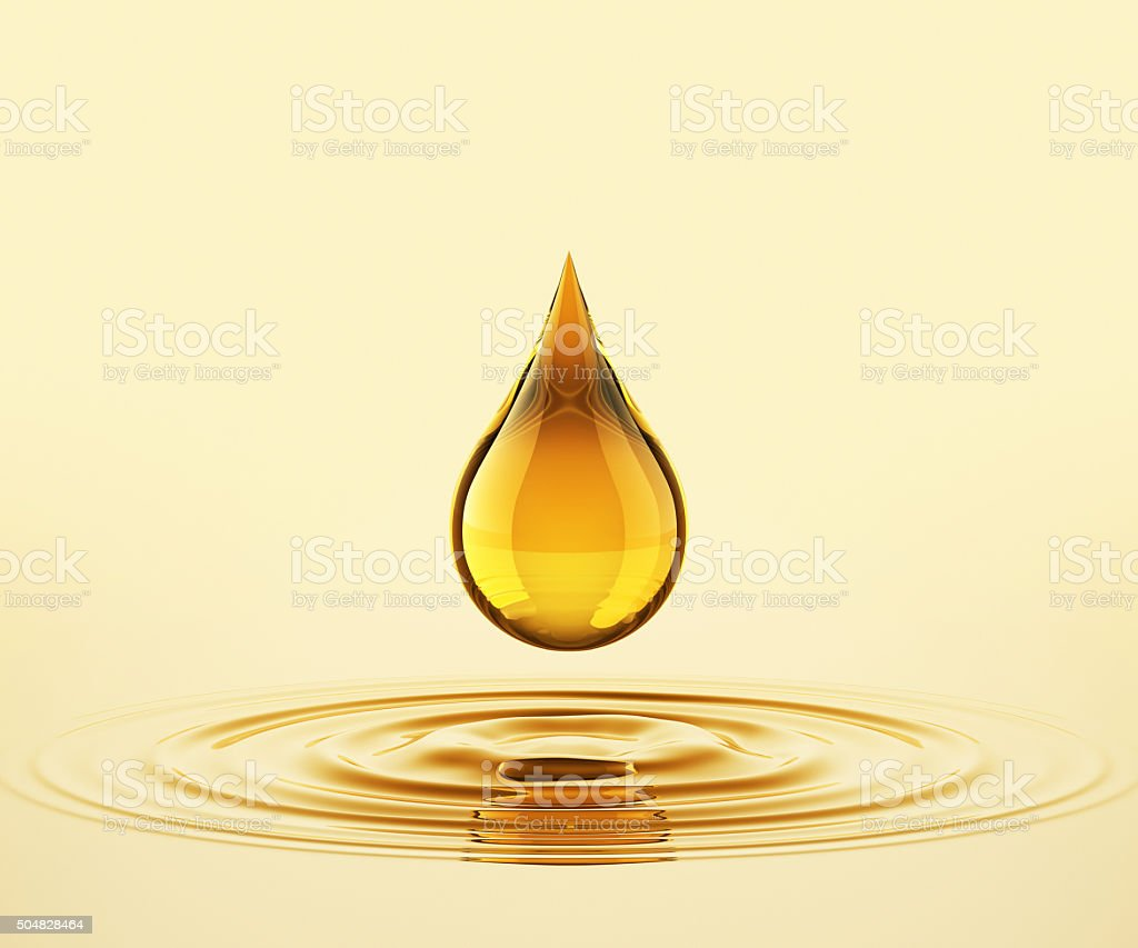 Drop On The Oil stock photo