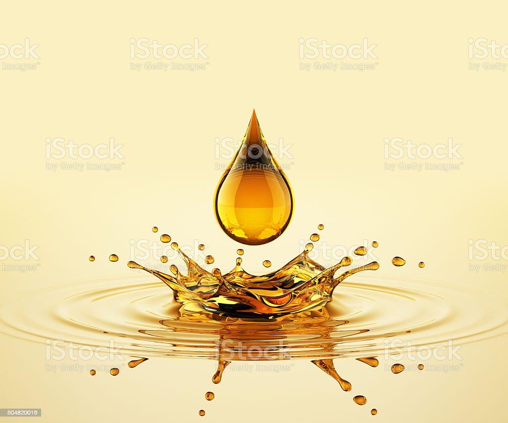 Drop On The Oil Splash stock photo