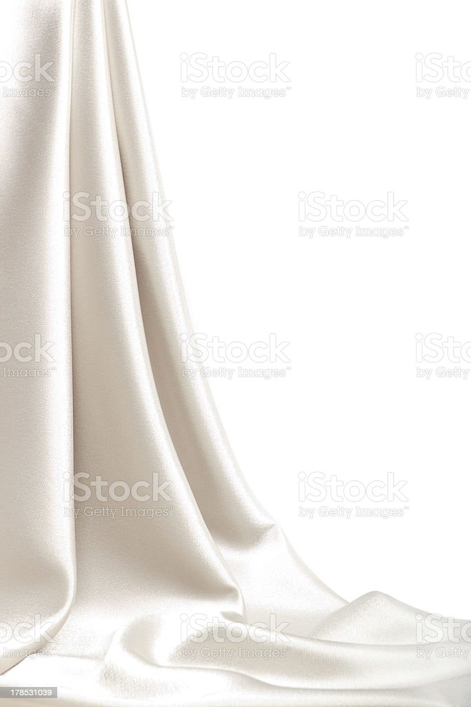 Drop-down satin fabric stock photo