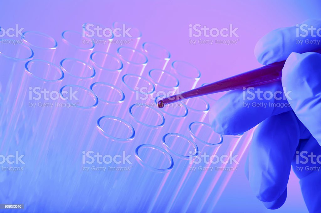 Droplet And Test Tube royalty-free stock photo
