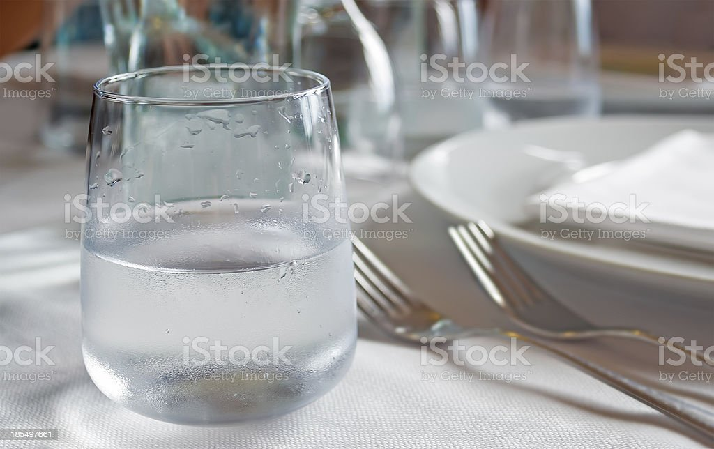 droplets on glass royalty-free stock photo