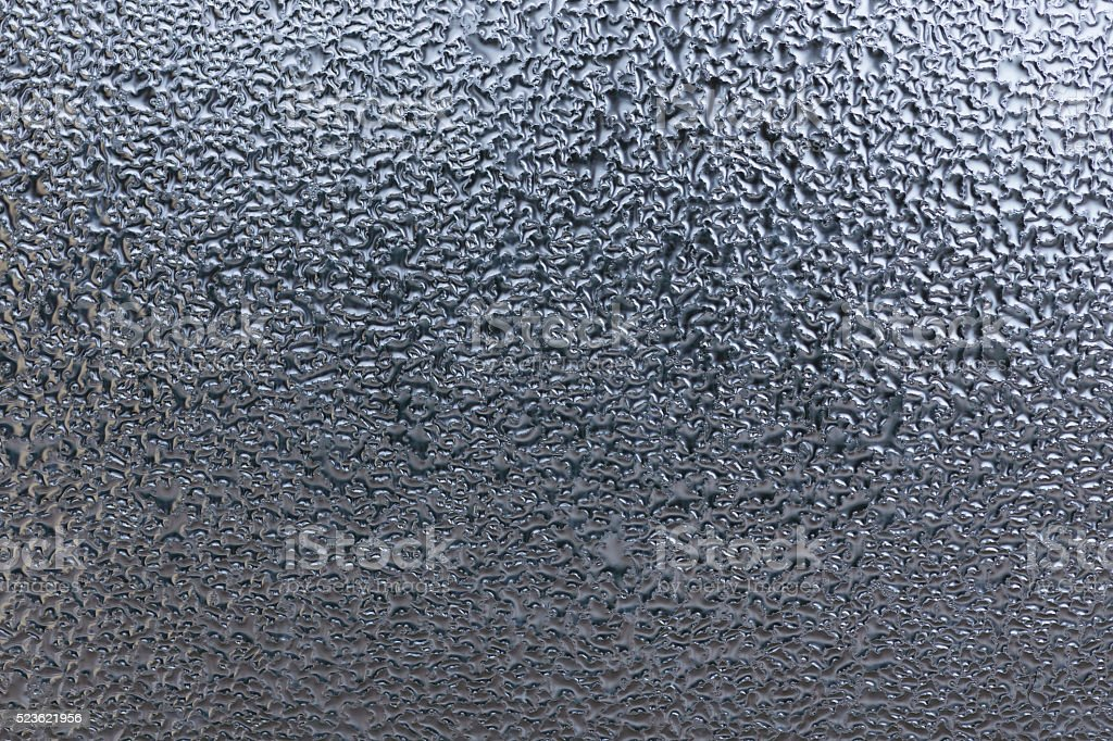 Droplets on the window macro texture stock photo