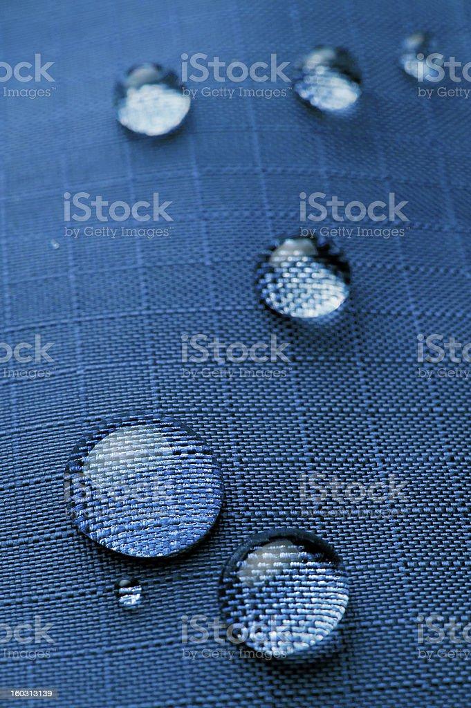 droplets on waterproof fabric stock photo