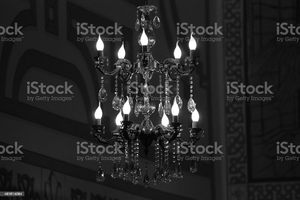 droplight in the church stock photo
