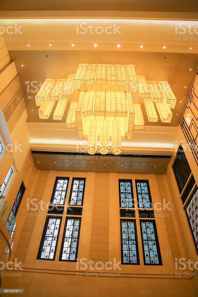 droplight in the hotel stock photo