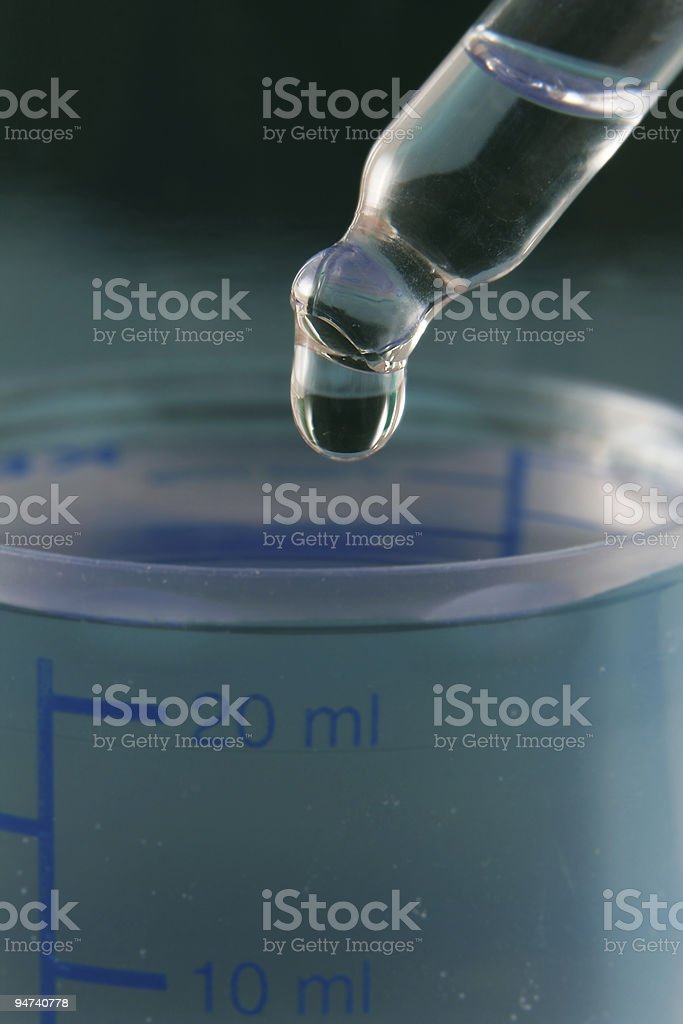 Dropper & liquids (vertical) royalty-free stock photo