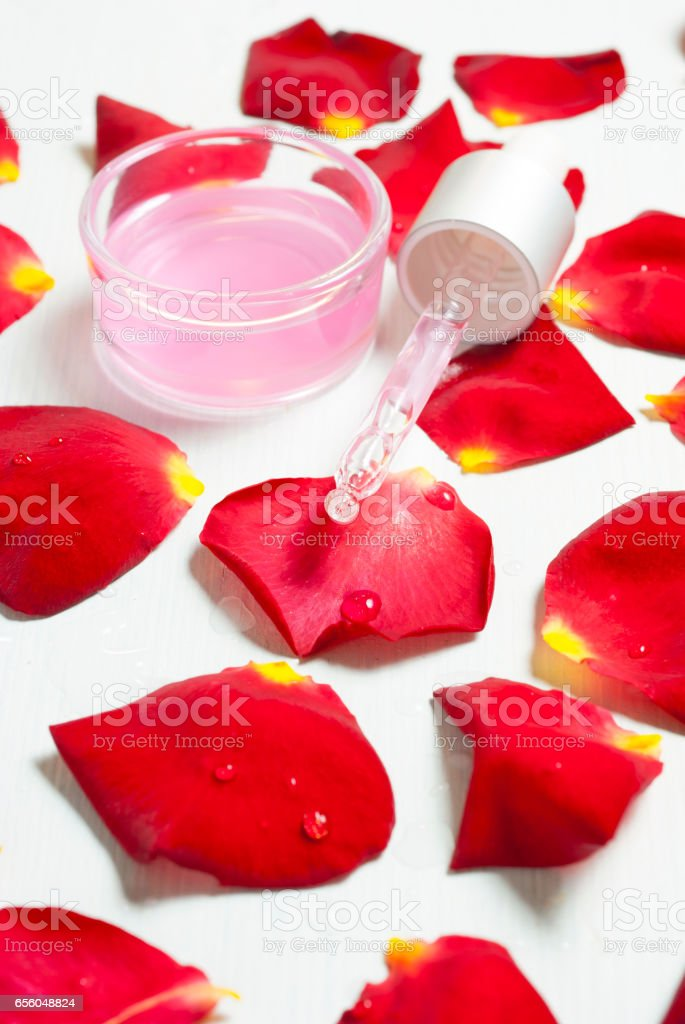 Dropper and perfume stock photo