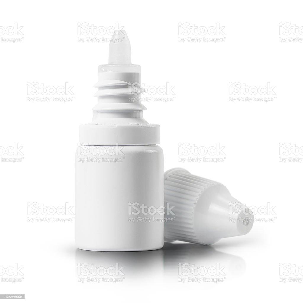 Dropper bottle of drug stock photo