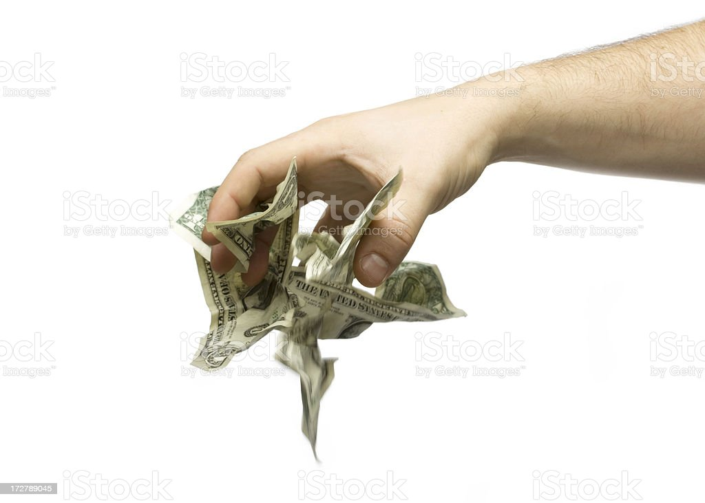 Dropping Cash royalty-free stock photo