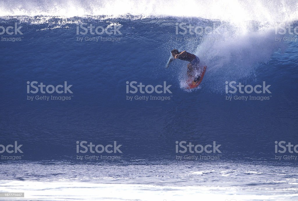 dropping in (first of 2) stock photo