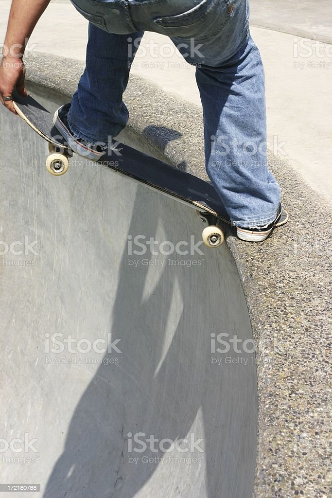 Dropping In stock photo