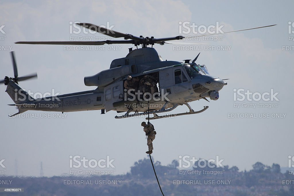 Dropping In To Ground Assault Demo royalty-free stock photo