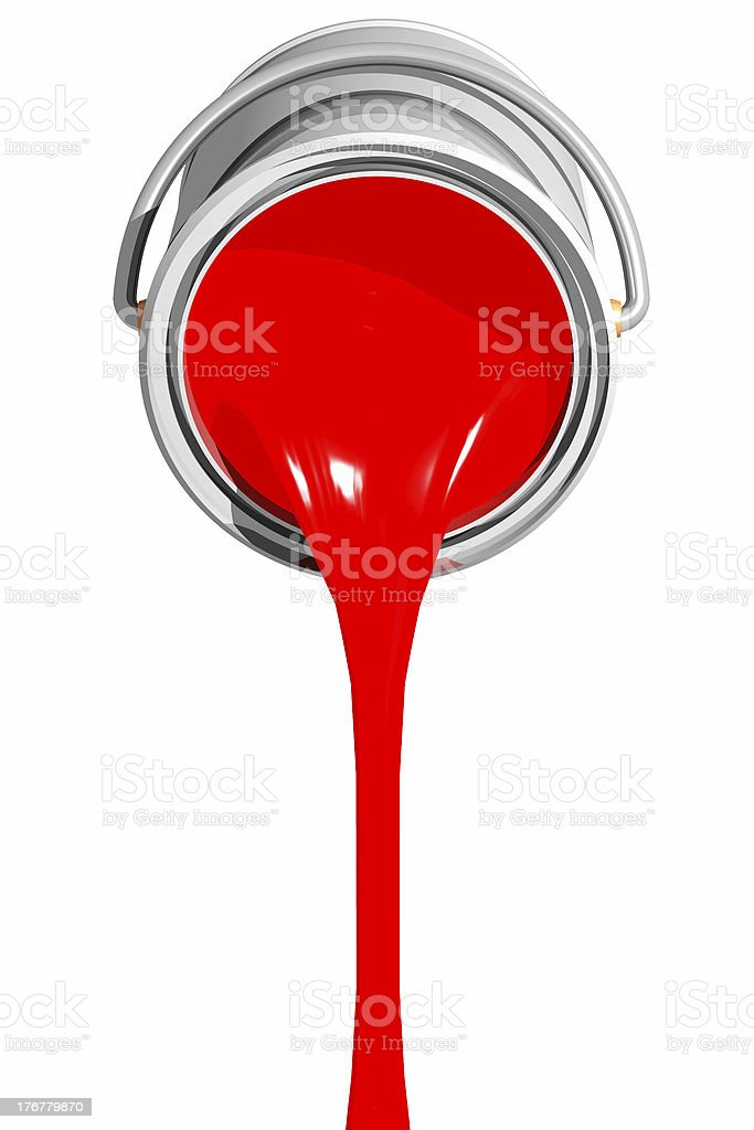 Dropping ink (3D) stock photo