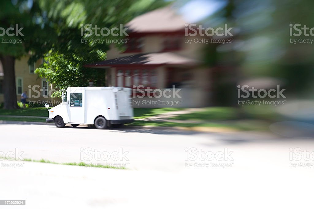Dropping Off The Mail royalty-free stock photo