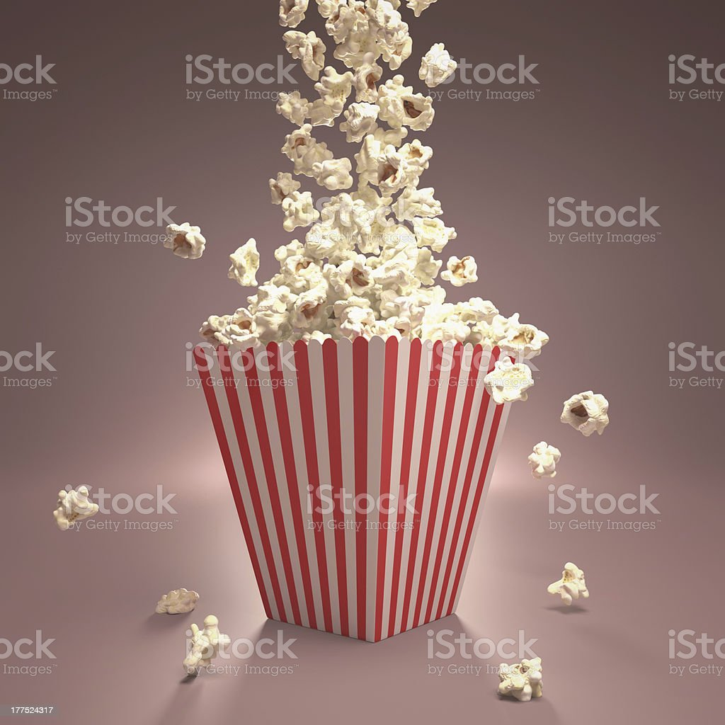 Dropping Popcorn royalty-free stock photo