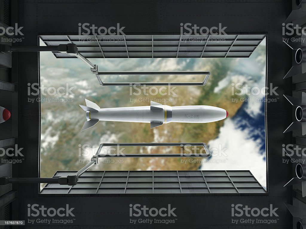 Dropping the Bomb stock photo