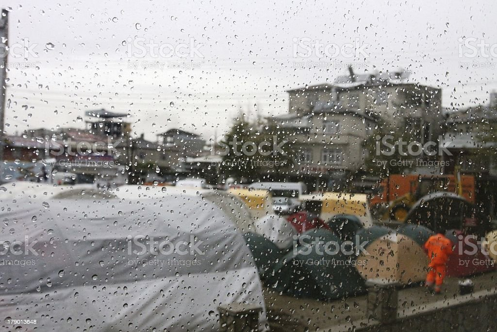 Drops and Tents royalty-free stock photo