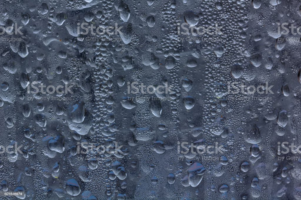 Drops on glass. stock photo