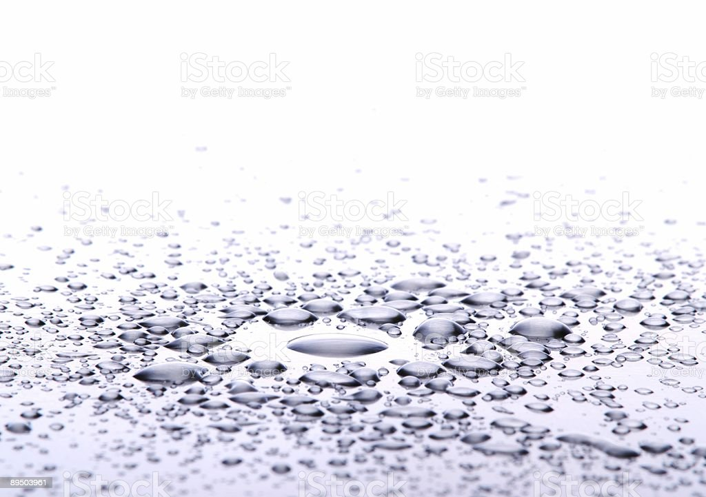 Drops on metal. stock photo